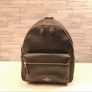 COACH Charlie Pebble Leather Mini Backpack